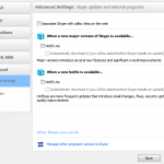 Skype settings to prevent automatic updates